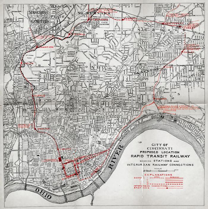 Cincinnati Subway Map.Cincinnati S Abandoned Subway Map