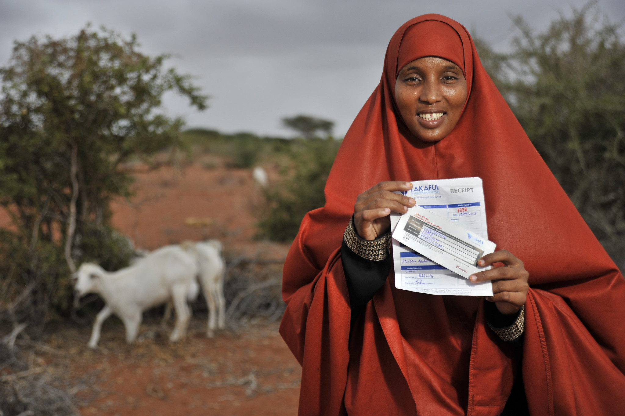 Beneficiary of Takaful insurance payout in Wajir, northern Kenya