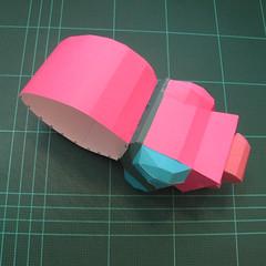 วิธีทำโมเดลกระดาษตุ้กตาคุกกี้รัน คุกกี้รสสตอเบอรี่ (LINE Cookie Run Strawberry Cookie Papercraft Model) 031