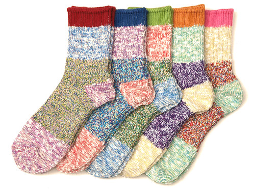Mauna Kea / Color Nep Socks 4段切り替え