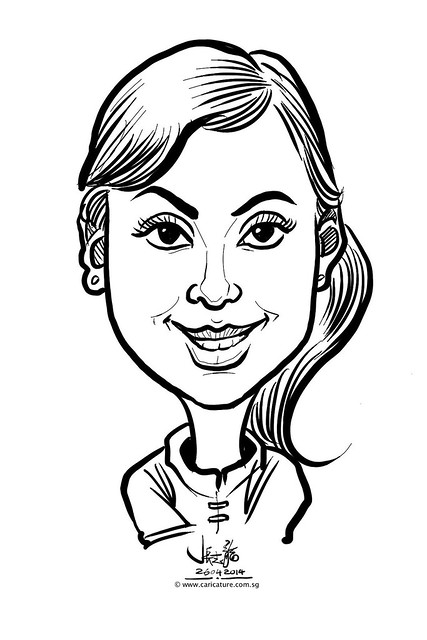 digital live caricature sketching for National Heart Centre Singapore -5