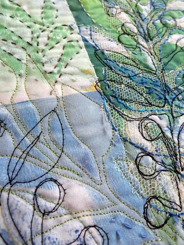 blue leaf bramble ~ detail