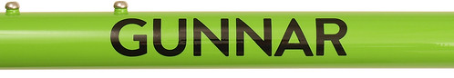 <p>Gunnar Color Sample - Willow Green with Black Bullseye Decals</p>