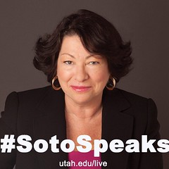 Today at noon, Supreme Court Justice Sonia Sotomayor highlights the MUSE Project's theme year on justice at the Huntsman Center. You can view a video stream of the speech at utah.edu/live. Find us on Twitter at @UUtah for live tweeting of the event. #Soto