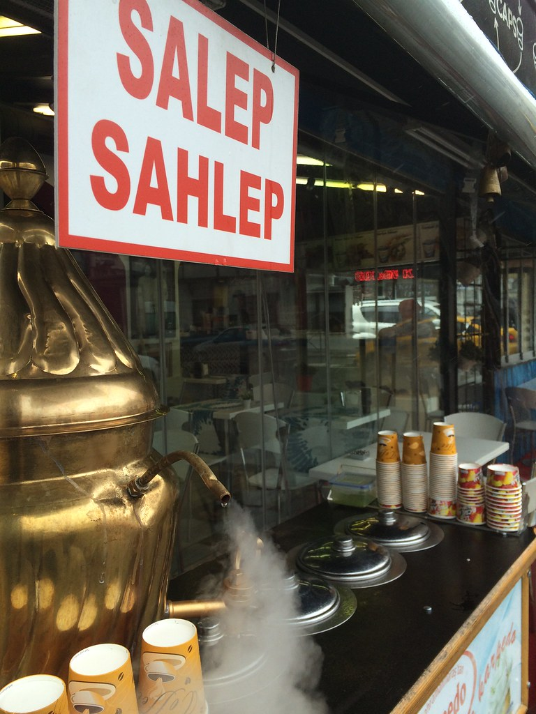 Salep, a hot drink made from milk and fermented Orchid root