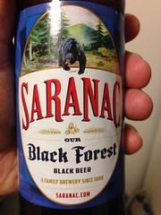 Beersperiment: Black Forest black beer by Saranac (Utica, NY) me: 3* @halyma: 3*
