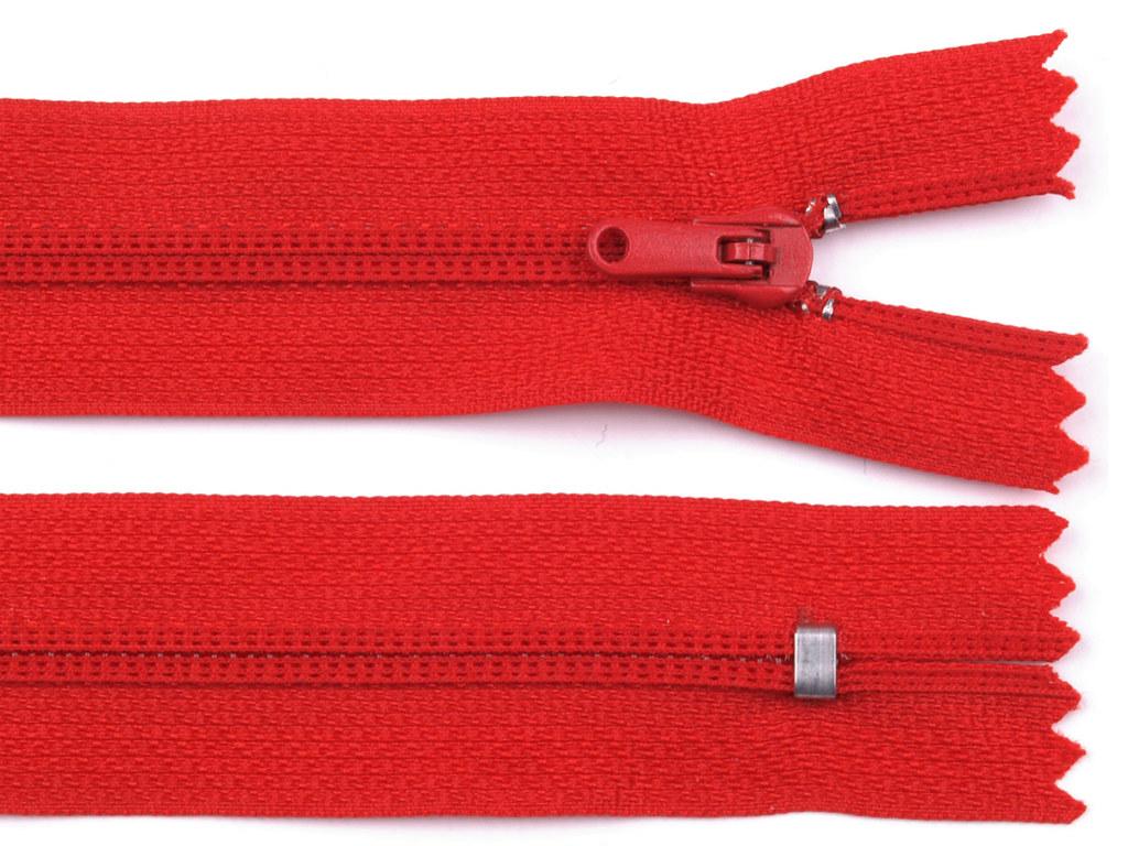 Reißverschluss 20cm, Rot