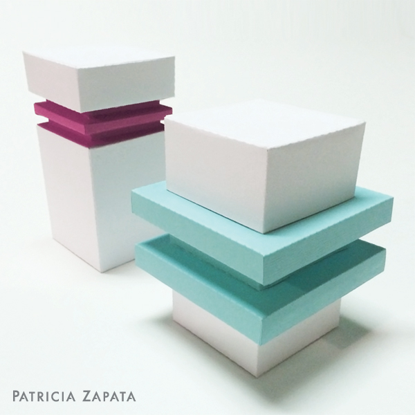 Ledge boxes by Patricia Zapata