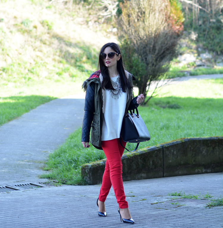 ZARA_ootd_chicwish_sheinside_parka_necklace_rojo_michael kors_08