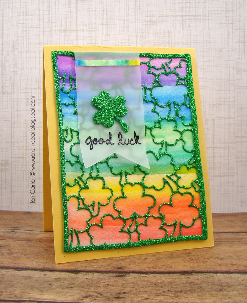 Jen Carter Frantic Stamper Good Luck Shamrock 1.1