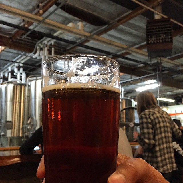 #kvpinmybelly TGIF! Haberdasher English IPA at @SocieteBrewing. Loving the puppies and brew! #beerheaven