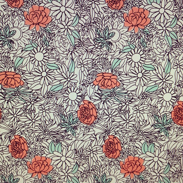 Probably my first #floral #pattern. #illustration #DSpattern