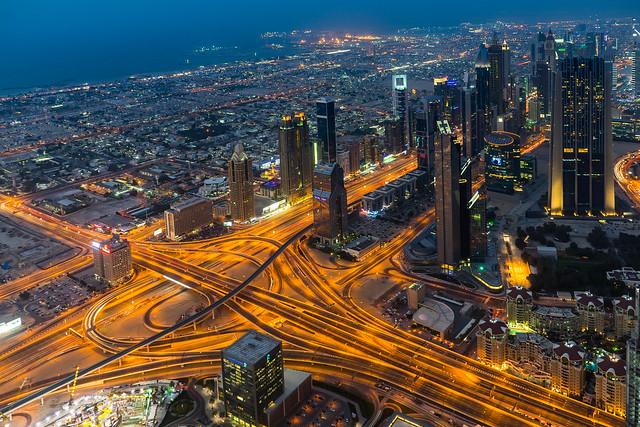 Dubai Financial district Blue Hour