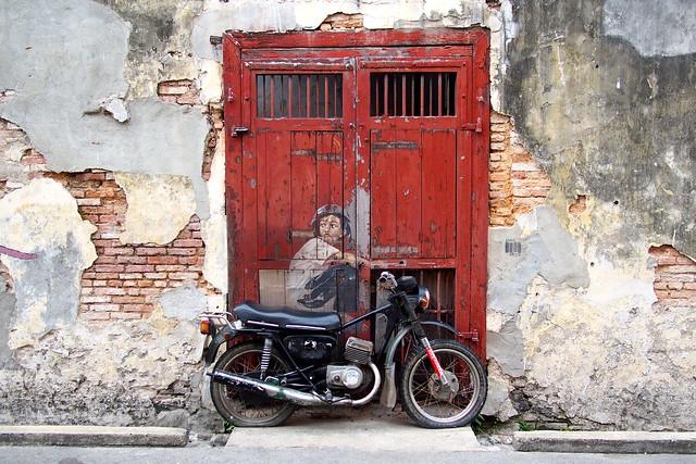 wall mural, Georgetown, Penang, Malaysia