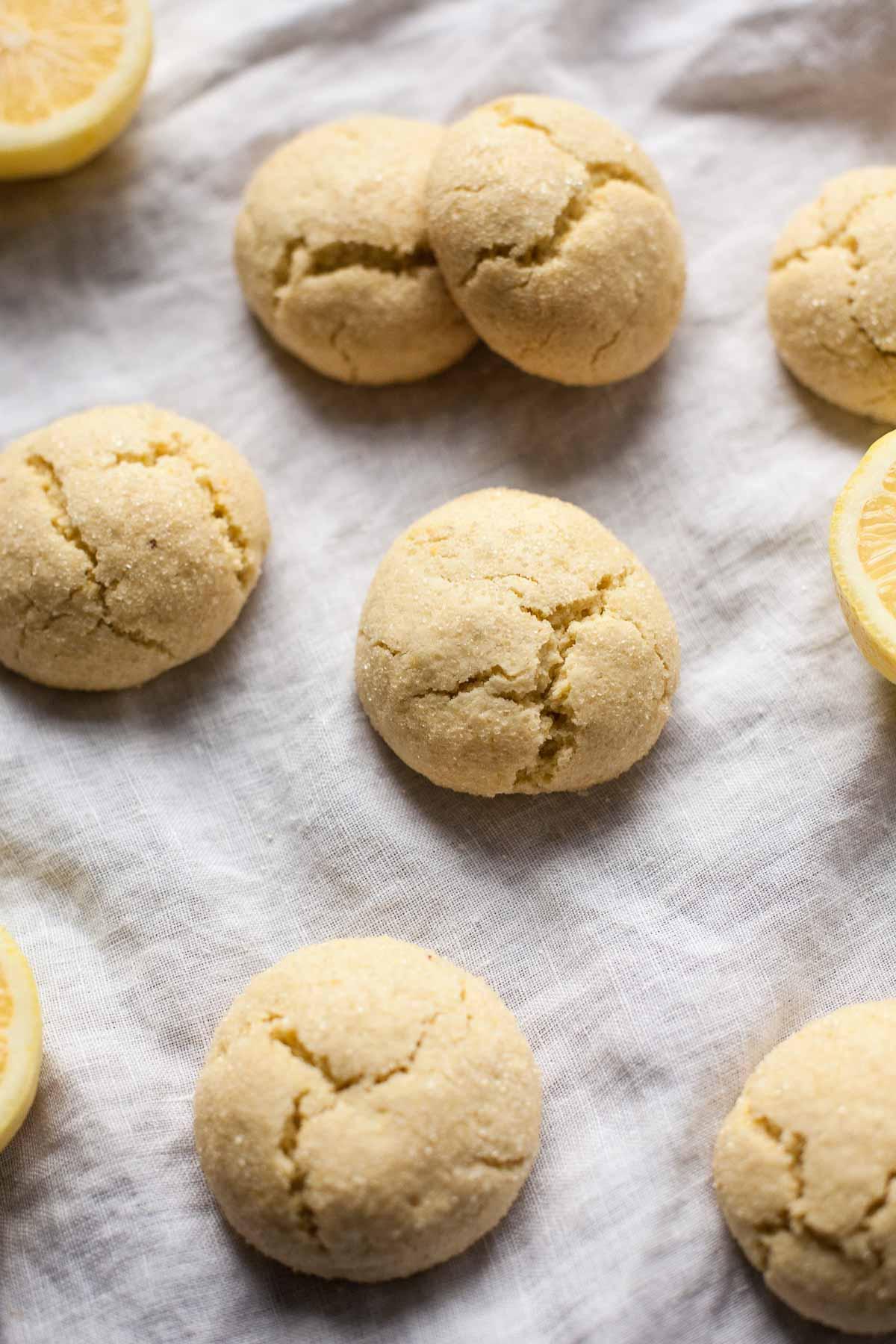 Lemon Olive Oil Cookies (Gluten free, grain free, dairy free)
