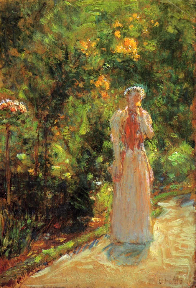 Mrs. Hassam in the Garden by Frederick Childe Hassam - 1888