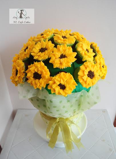 Sunflower Bouquet by Nila Louise Baliad of NL Cafe Cakes