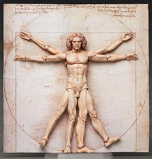 藝術傑作變成惡搞神作!figma 桌上美術館 維特魯威人 テーブル美術館 ウィトルウィウス的人体図
