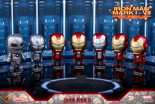 Hot Toys – COSB261-267 –【鋼鐵人3:馬克1~馬克7】Iron Man Mark I-VII Cosbaby