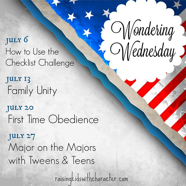 July Wondering Wednesday
