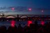 Flares over Yaquina Bay Bridge