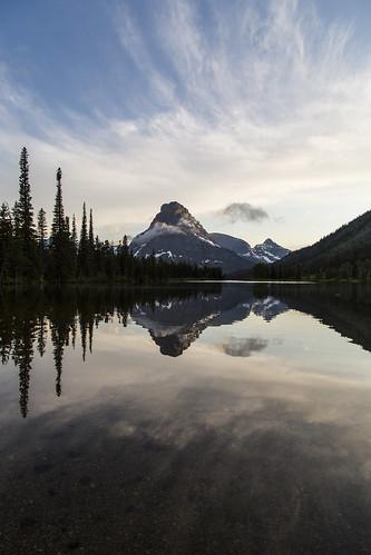 Calm Pray Lake and Sinopah Portrait