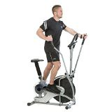 Deluxe Cross Trainer 2-In-1 Fitness Elliptical Exercise Bike Cardio Workout