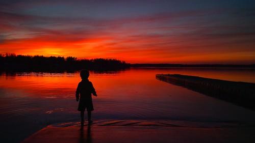 Sunset over Belwood Lake