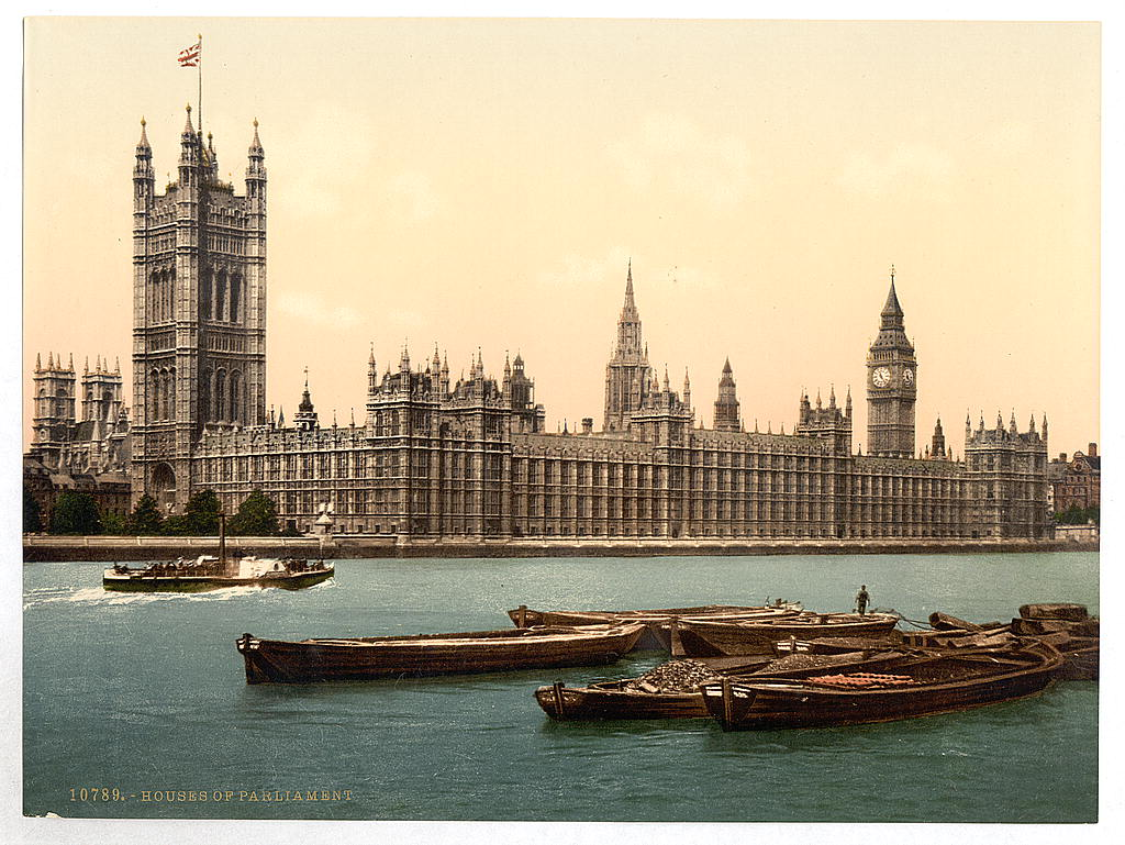 [Houses of Parliament from the river, London, England] (LOC)