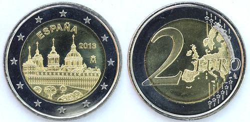 2 Euros de España del 2013: El Escorial