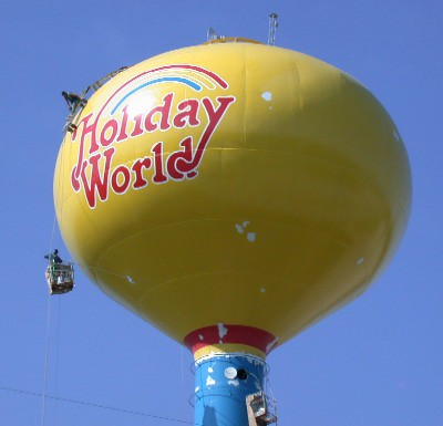 Painting our water tower in 2005