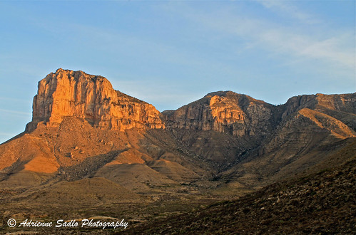 Sunrise Upon El Capitan - Guadalupe Mountains National Park