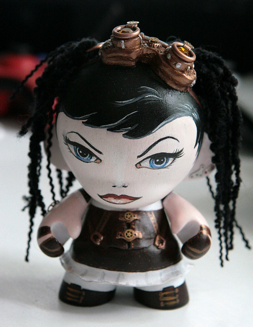 Steampunk girl munny