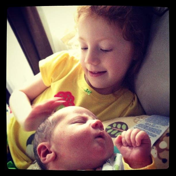 There's just something about a newborn.... #love #siblings