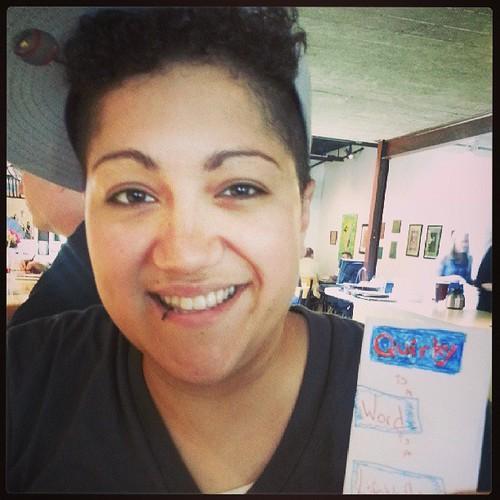 SPOTTED: Gabby Rivera @quirkyrican w her first mini #zine #amc2013 #wemakezines