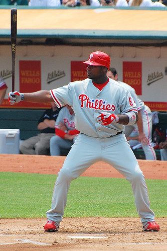 The typical shot of Ryan Howard standing in