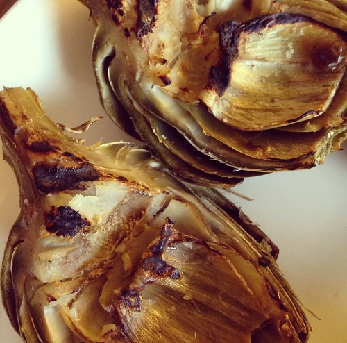 Grilled Artichokes with Lemon Garlic Butter