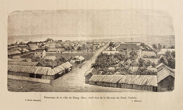 Toàn cảnh thị trấn Hưng Hóa, thủ phủ của Hội truyền giáo vùng Thượng du Bắc Kỳ
