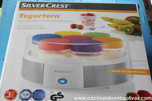 Yogur natural azucarado Yogurtera Lidl www.cocinandoentreolivos (1)