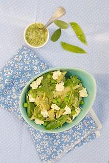 pasta and green peas salad.1