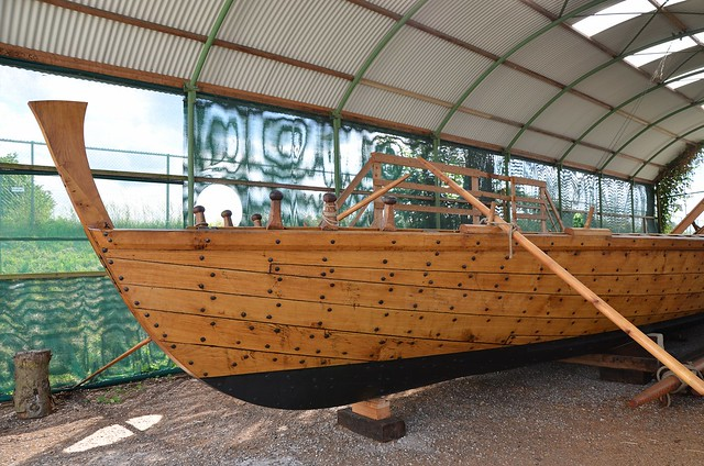 Full size replica of a Liburna, small galley used for raiding and patrols, particularly by the Roman navy, in Millingen aan de Rijn, Netherlands