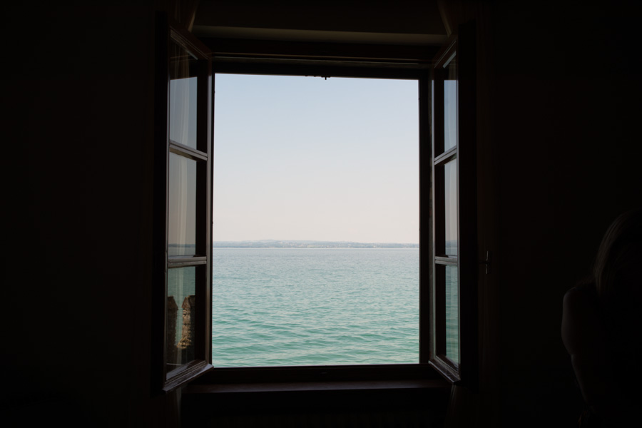 view from a window, Lake Garda