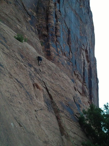 Rock climbing in Moab, Utah (Wall Street) 4/7
