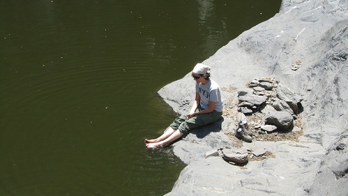 "Putting my dirty feet into the ""baboon pools."""