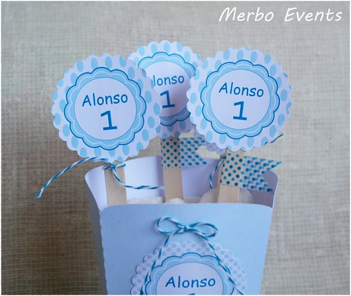 toppers y pop corn bautizo Merblo events