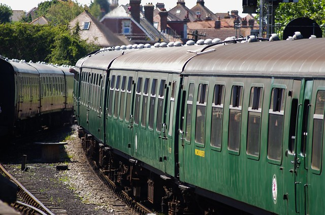 Swanage Railway carriages, 24th July 2012