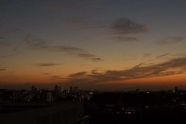 東京路地裏散歩 2013年9月17日の夕焼け空