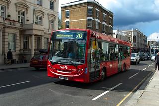Bus standard, ligne 70, Ladbroke Grove, Notting Hill