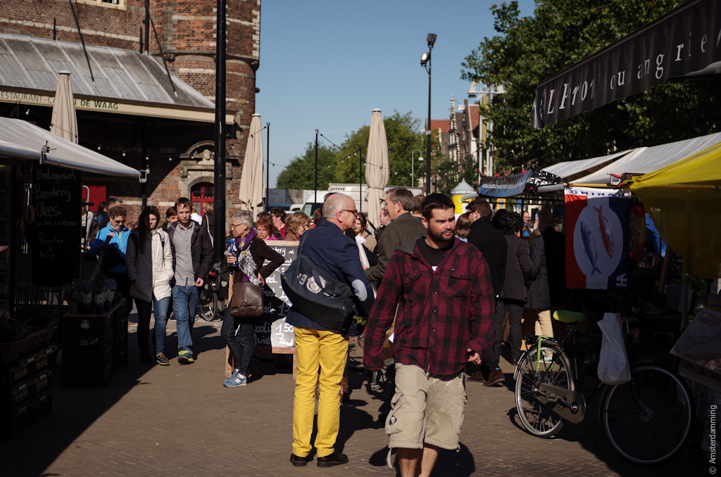 Amsterdam, Sunny September Saturday at Nieuwmarkt