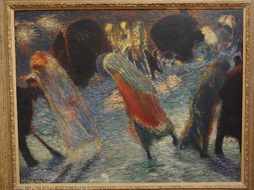 Leaving the Theatre, by Carlo Carra. (1910).
